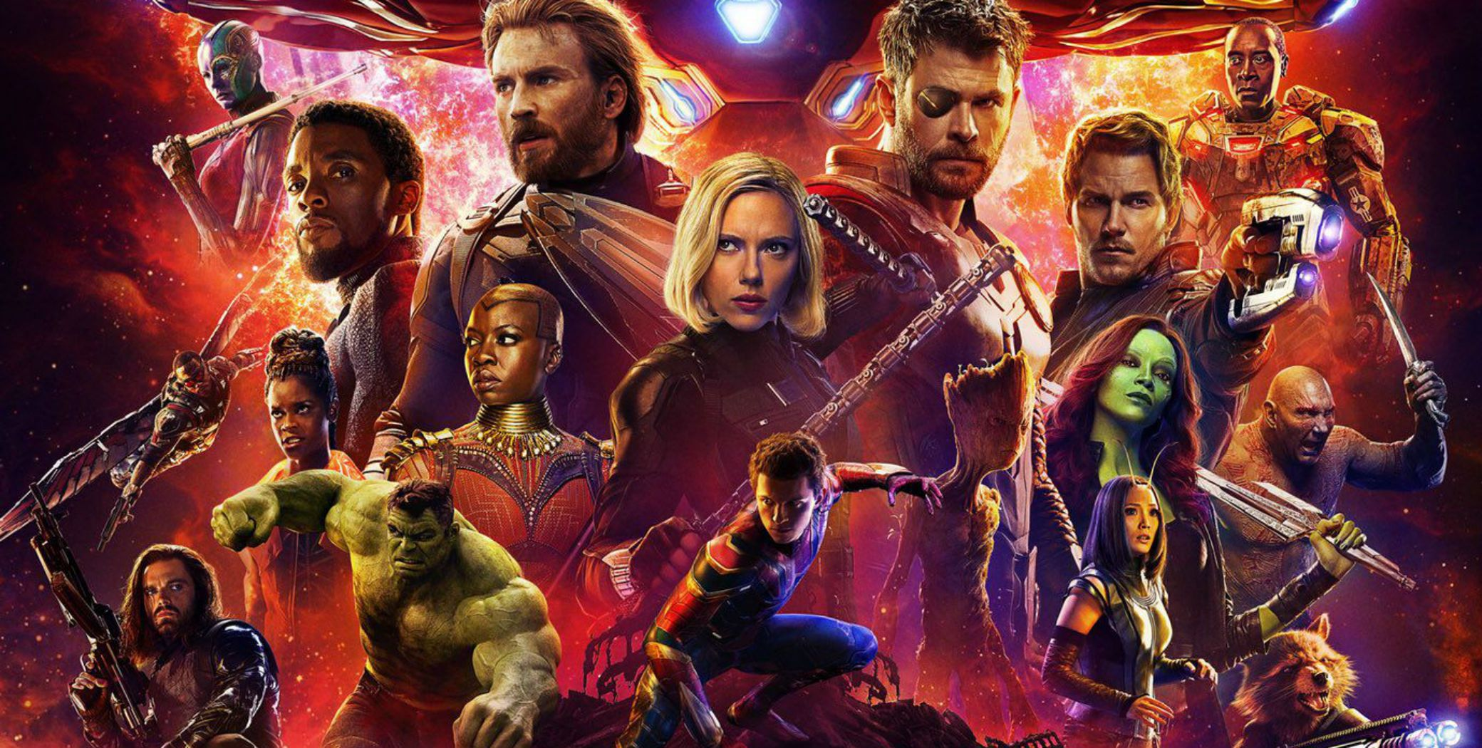 Avengers Infinity War and Endgame (2018-19) Movie Poster