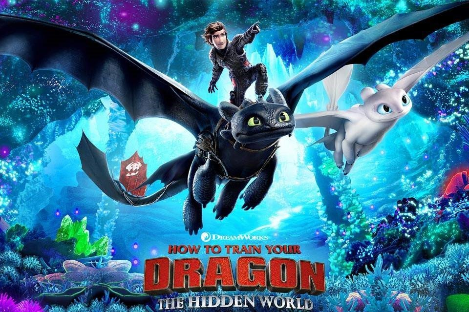 How To Train Your Dragon trilogy Poster