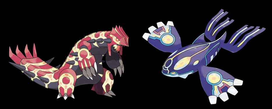 PRIMAL KYOGRE AND PRIMAL GROUDON