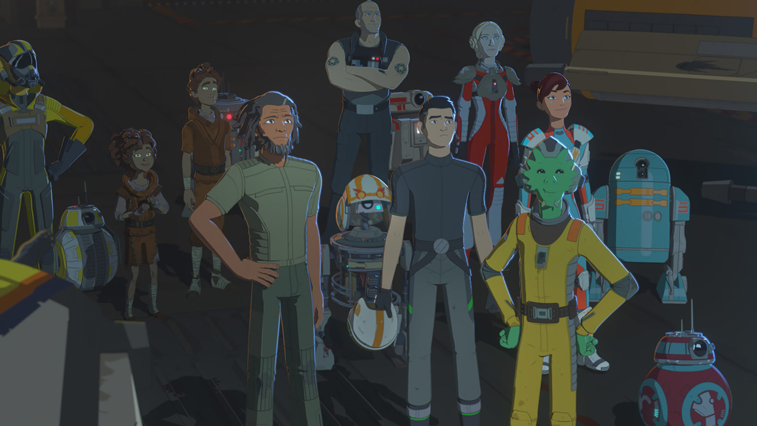 Star Wars Resistance Tv Show Scene