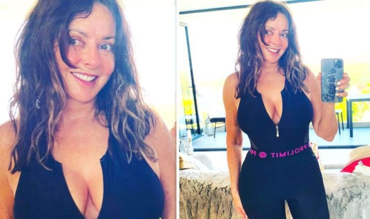 Carol Vorderman, 60, Lives It Up in Wales and Posts Stunning Snap in White Plunging Swimsuit While Enjoying Her 'Break From Work'