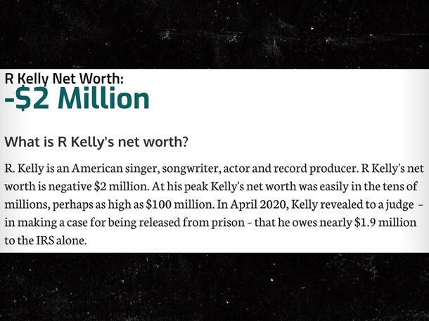 R. Kelly's Alleged Net Worth landed on Negative $2 Million, Sparks Mockery