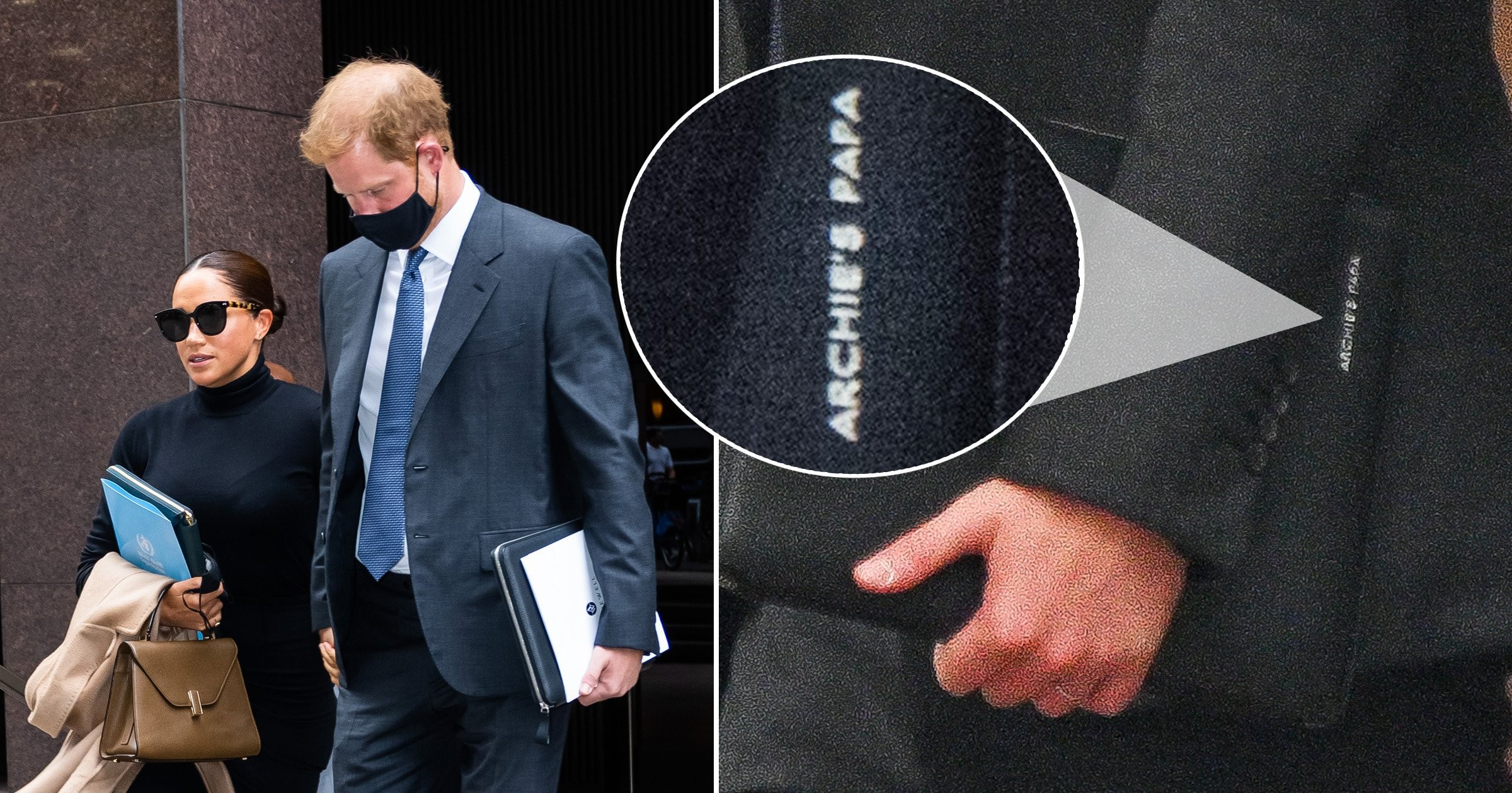 """Prince Harry Has """"Archie's Papa"""" Embossed On His Briefcase"""