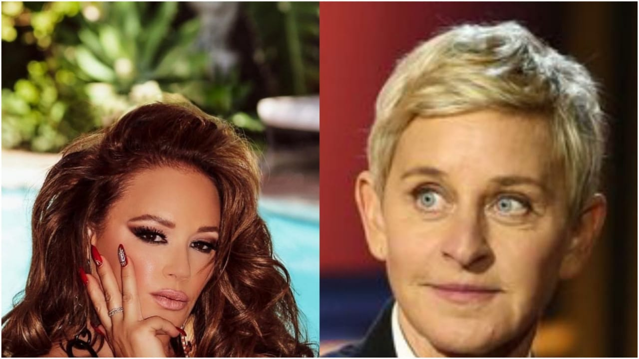 """Actress and Activist Leah Remini Accuses Ellen DeGeneres Of """"Acting Interested"""" Before Playfully Hitting Her In Wacky Moment"""